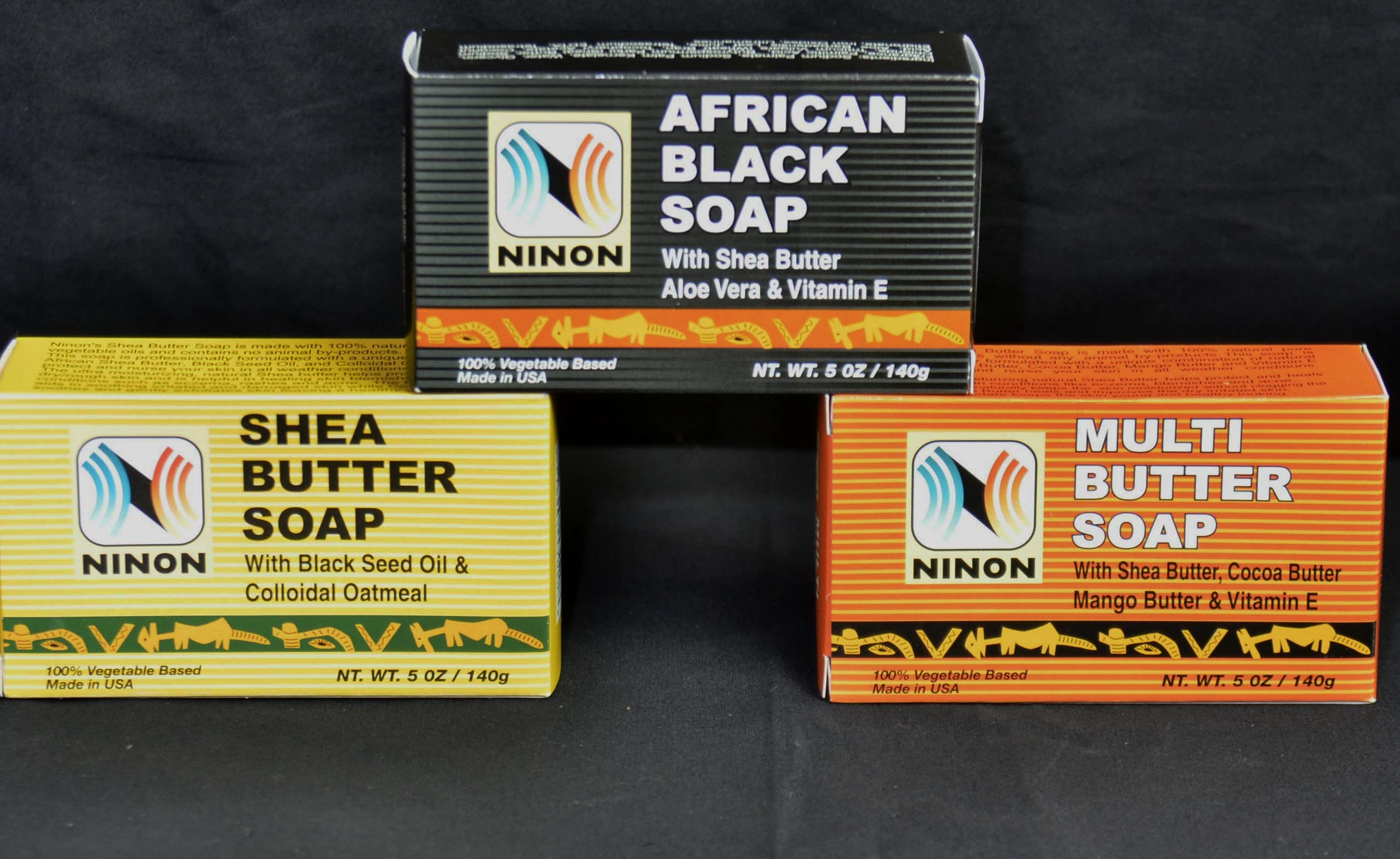 Pure African Soap Black Multi Butter Shea Butter